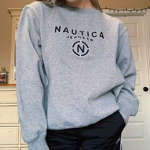 Nautica Vintage Embroidered Crewneck